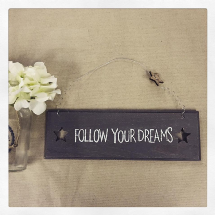 50% off Shabby Chic Small Rustic Wooden Sign